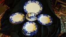 Circa 1902 Flow Blue Furnival Pottery  Part Dinner Service - Plates and Turren
