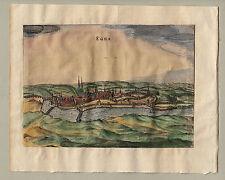 EGRA Eger Cheb Böhmen kolorierter Kupferstich von  BERTIUS 1616 Janssonius