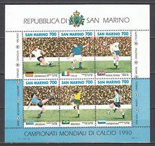 """SAN MARINO 1990 foglietto Coppa del mondo di calcio """"Italia '90"""" **"""
