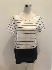 FRENCH CONNECTION FCUK Ladies Striped Top Blouse Shirt Tee Women's Size L