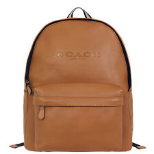 NWT MEN'S Soft Grain COACH CAMPUS BACKPACK IN SMOOTH LEATHER F72120 saddle