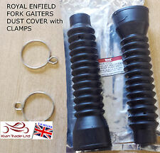 Brand New Fork Gaiters Dust Cover With Clamps BULLET Royal Enfield Motorcycles
