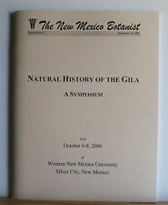 Natural History of the Gila: A Symposium 2006 New Mexico Botany Forest Ecology