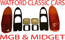 MGB and MG Midget Complete Rear light & Reverse lens kit for years 1970-1980
