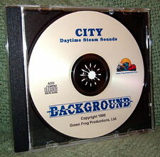 "56008 MODEL RAILROAD SOUND EFFECTS AUDIO CD ""CITY DAY STEAM"""