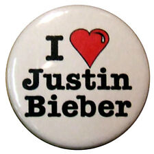 "I love Justin Bieber - 25mm (1"") badge, I Heart Bieber"
