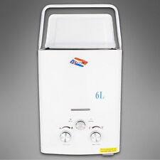 PORTABLE 6L GAS LPG PROPANE TANKLESS BOILER INSTANT HOUSEHOLD HOT WATER HEATER