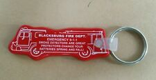 BLACKSBURG, SOUTH CAROLINA FIRE DEPARTMENT RUBBER KEY CHAIN