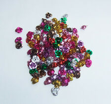 150 x Mixed Colour Aluminium Rose Bead - 6mm