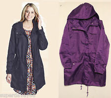 PAC-A-PARKA SHOWERPROOF HOODED FESTIVAL GIG COAT JACKET ULTRAVIOLET PURPLE UK 12