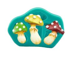 MUSHROOM TOADSTOOL SILICONE MOULD CAKE TOPPERS CAKE DECORATING SUGAR CRAFT