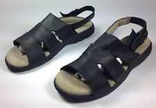 Women's Timberland Black Leather Adjustable Buckle Fashion Sandals Sz.8.5