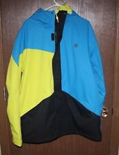 DC SHOES AMO 14 SKI JACKET MENS XL BLUE/YELLOW/BLACK NWT FREE SHIPPING