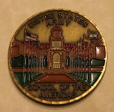 US Army School of the Americas Command Sergeant Major CSM Army Challenge Coin