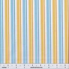 INSTOCK Despicable Me 1 in a Minion BLUE Yellow STRIPE Fabric By the FQ 1/4 YD