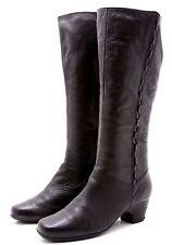 Clarks Artisan Womens Knee High Boots Sze 9 Black Leather Tall Zip Dress Comfort