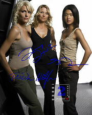 """Tricia Helfer, Grace Park, Lucy Lawless 8""""x 10"""" Signed Color PHOTO REPRINT"""
