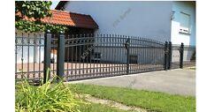 Einfahrtstor Doppelflügeltor Schmiedeeisen Holz Tor Pforte Verzinkt Pulverbesch