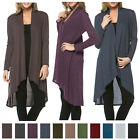 USA Women Long Maxi Cardigan Sweater Coat Knit Open Front Draped Hacci Outwear