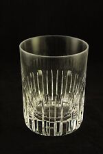 """Vtg Rare Baccarat Crystal Art Glass Old Fashioned Rotary Cup 4-5/8"""" Tumbler 16oz"""