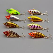 8pcs/lot 8 Colors Mini VIB Baits Bass Fishing Lures 4cm/2.7g Tackle Crankbaits