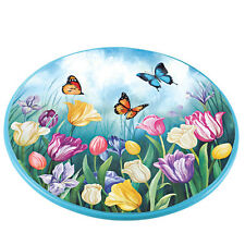 Spring Tulips and Butterflies Lazy Susan, by Collections Etc