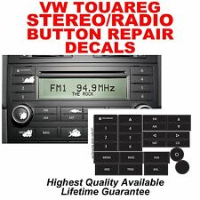 VW Touareg Standard Radio Stereo Button Repair Stickers Decals Overlays
