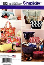 Simplicity Sewing Pattern 1153 Totes Bags Purse Handbag Tissue Cover