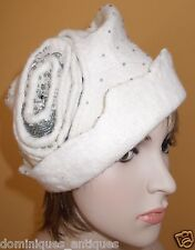 wearable art organic merino wool silk hat cap beret avant guard new hand felted