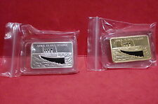 in memory of Titanic 100  years     24 KT GOLD PLATED or silver plated coin bar