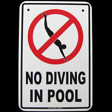 Danger NO DIVING IN POOL Metal Wall Sign Hot Tub/Spa/Swimming Caution/Warning Ad
