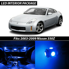 Blue Interior LED Lights Package Kit for 2003-2009 Nissan 350Z