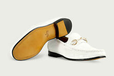 $2,4K NEW IN BOX GUCCI CROCO BURRI BIANCO MATT LUXURY SHOES TAG SIZE 8, 10.5, 11