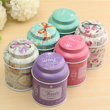 Flower Design Metal Sugar Coffee Tea Tin Jar Container Candy Sealed Cans Box