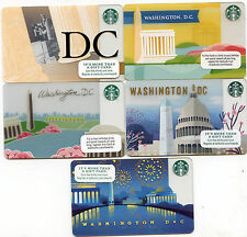 COMPLETE SET 5  DIFFERENT REGIONAL WASHINGTON DC RETIRED  STARBUCKS GIFT CARDS