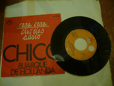 "CHICO BUARQUE DE HOLLANDA""CARA CARA-disco 45 giri RGE It 1968"" IN ITALIANO"