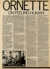 10/7/82PGN16 ARTICLE & PICTURES : ORNETTE COLEMAN