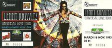 RARE / TICKET DE CONCERT - LENNY KRAVITZ - PARIS BERCY NOV. 1993 / COMME NEUF
