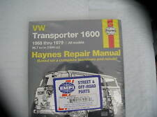 HAYNES 1600 TRANSPORTER BUS 1968-1979 REPAIR MANUAL VW
