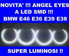 KIT 4 ANELLI ANGEL EYES a LED SMD 6000K per BMW E46 A+B NO CCFL LUMINOSISSIMI!
