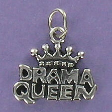 Drama Queen Charm Sterling Silver for Bracelet Crown Teenager Diva