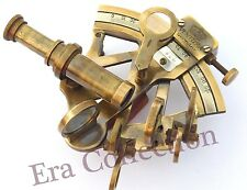 """Solid Brass Sextant Nautical Maritime Astrolabe Marine Gift Ships Instrument 3"""""""