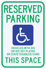 3M Reflective WISCONSIN State Specified Disabled Parking Sign Municipal Grade