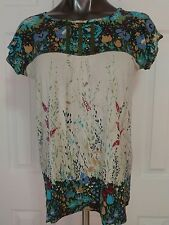 Anthropologie TINY womens tunic top sz M floral lace detail