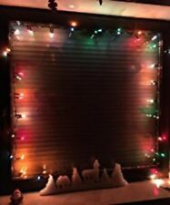 Super LED 100er Lichterkette BUNT, Fensterlicht Deko Weihnachten Blinkfunktion
