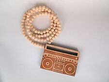 New Hip-hop fashion good wood nyc Necklace ( Up The Volume )