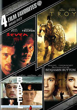 Brad Pitt: 4 Film Favorites DVD Troy Seven Babel Benjamin Button NEW