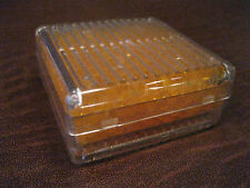 1 SILICA GEL ORANGE INDICATING DESICCANT REUSABLE DRIER BOX CANISTER CONTAINER