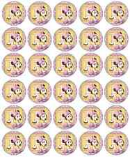 Minnie Mouse 1st Birthday Cupcake Toppers Edible Paper BUY 2 GET 3RD FREE!