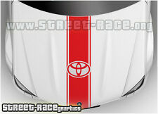 BS2102 Toyota bonnet racing stripes graphics stickers decals Aygo Yaris Hilux